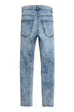 Skinny Regular Jeans - Denim blue/Acid - Men | H&M 3
